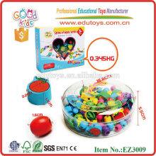 2015 Pädagogische hölzerne Perlen Spielzeug, bunte Holzspielzeug, neue Früchte Holzspielzeug