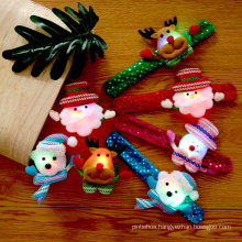 Christmas Party Supplies LED Lamp Christmas Clap Ring Flash Cartoon Clap Ring Bracelet