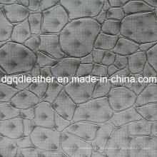 Cuero de muebles de decoración de patrón de moda de cuero (QDL-51382)