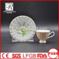 Tasses et soucoupes en porcelaine P & T, tasses et soucoupes décoratives en couleurs