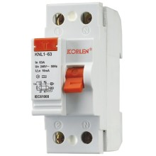 korlen KNL1-63 Residual Current Circuit Breaker best price with good materials RCCB IEC/EN61008