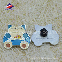 Enamel rubber clutch children lovely badge with logo