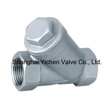 Válvula de filtro Y de rosca de acero inoxidable (GL11W)