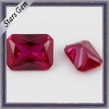 Hot Sale Low Price Synthetic Rectangle Shape Ruby