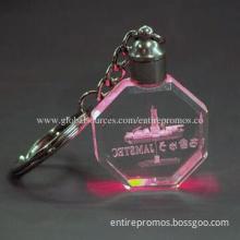 Crystal Key Tag with LED Light