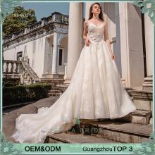 Vestidos de casamento elegantes Vestido de noiva guangzhou da China Vestidos de noiva feitos sob encomenda para vestido de noiva de tamanho mais