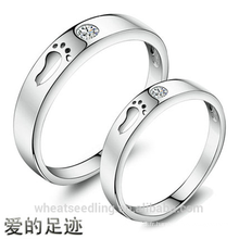 New Design Zircon Footsteps Of Love Couple anneaux
