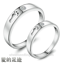 New Design Zircon Footsteps Of Love Couple rings