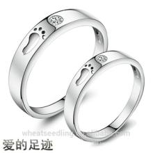Novos Passos Zircon Design de anéis Love Couple