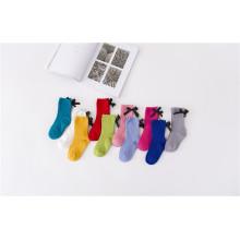 Moda doce menina meias cores de doces com arco beatifual algodão meias cores personalizadas