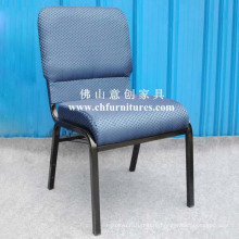 High Density Church Chair with Blue Fabric (YC-G38-01)