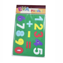 different high light colour EVA foam number Math learning Puzzle