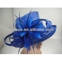 Custom straw hat girls sinamay hat
