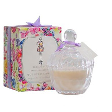 Luxury Crystal Glass Jar Candle with Ribbon