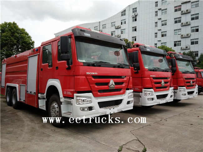 SINOTRUK Dry Powder Fire Trucks