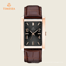 Quadratische klassische Edelstahl-Quarz-Armbanduhr 72274