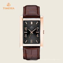 Reloj de pulsera de cuarzo de acero inoxidable cuadrado con forma cuadrada 72274
