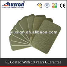 Alusign good quality brush aluminum plastic sheets