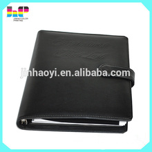 popular design leather book cover spiral notebook printing