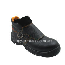 Split Embossed Leather Safety Shoes with Mesh Lining (HQ05051)