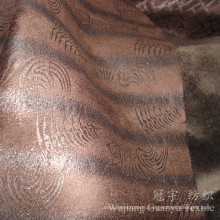 Home Textile Leather Bronzed Suede Fabric with Fleece Backing