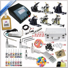 Cheap light tattoo kit with 6 tattoo guns .