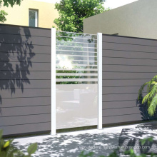Canadian Market Hot Sell DIY Wind Resistance Construction Privacy Fence Wood Plastic Composite WPC Decorative Garden House Fence