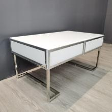 clear and white glass side table