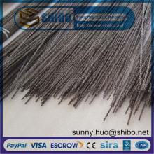 Alambre de tungsteno torcido de la venta caliente del precio de fábrica 0.76mm en la fabricación de la bobina y de los filamentos en espiral