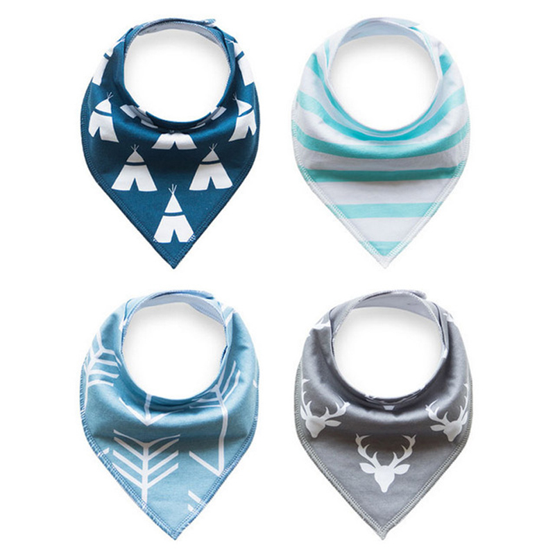 High Quality Triangle 100% Organic Cotton Bandana Baby Bib