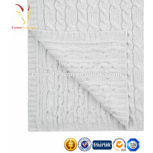 100% Cashmere Knitted Wholesale Baby Blanket