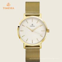 Reloj de pulsera de acero inoxidable de lujo hombres mujeres relojes de cuarzo 72226