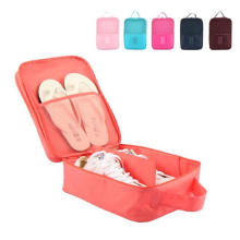 Double Layer Waterproof Polyester Storage Portable Traveling Tote Shoe Bags with Zipper