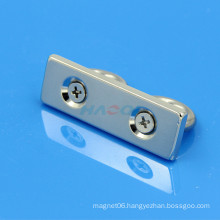 neodymium sintered block ndfeb magnet with countersunk hole