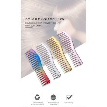 New Style Barber Plastic Parting Wide Tooth Chromatic Electroplating Hot Hair Comb