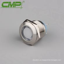 3v, 6v, 12v, 24v, 36v, 110v, 220v 19mm Lámpara de señal terminal de soldadura 12v