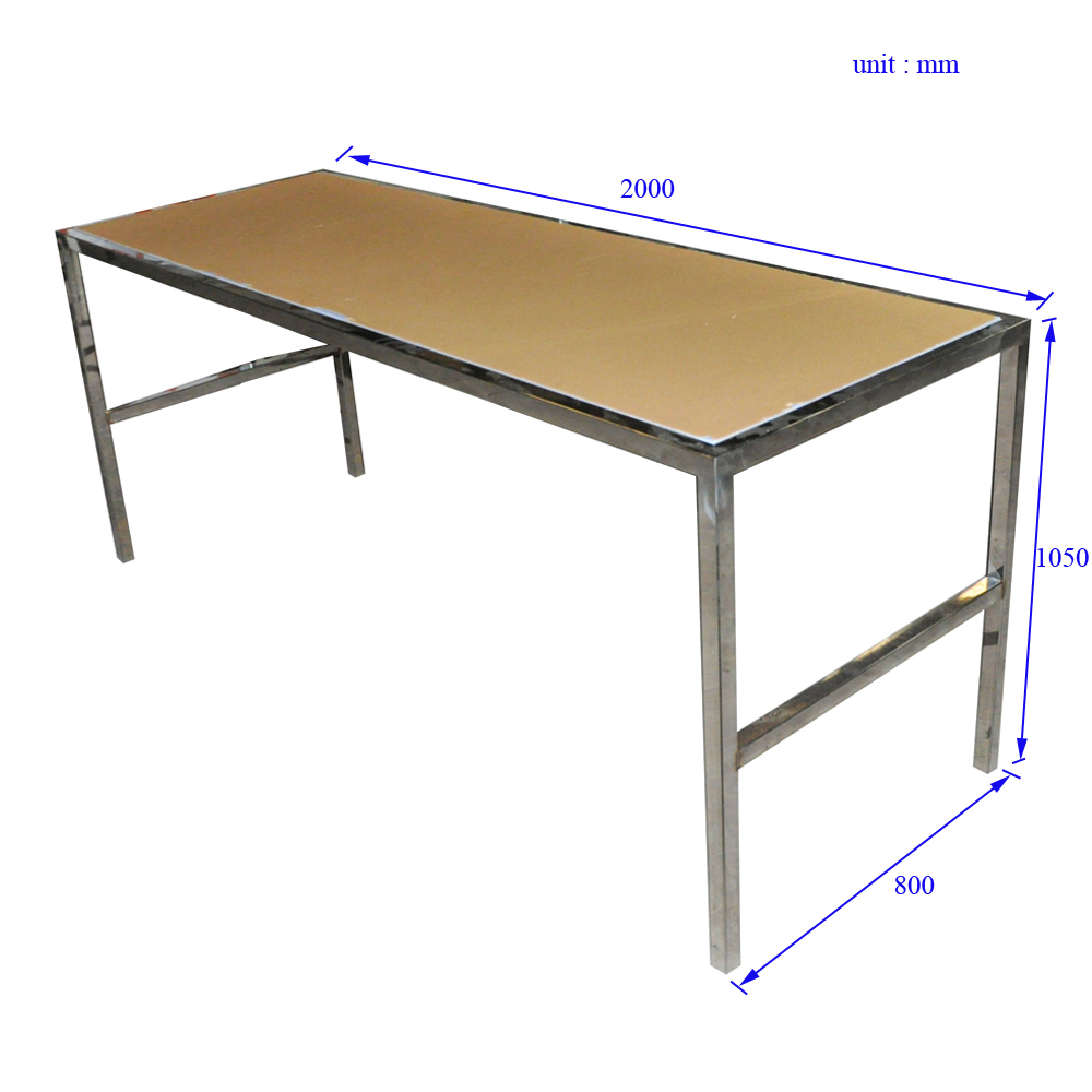 CFF0004 Stainless Steel Dinning Table Size