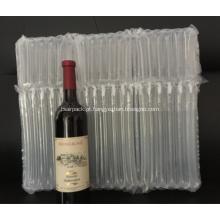 Sacola de embalagem de ar inflável para três garrafas de vinho