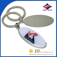 Wholesale epoxy promotional keychain with factory price
