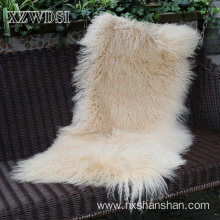 China supplier OEM for Sheep Wool Blanket Luxury Faux Mongolian Lamb Fur Blanket supply to Cambodia Manufacturers