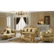 Софа ткани с деревянной рамкой софы и столик (ЖЛ-D619D)