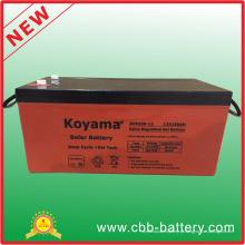 Bateria de ácido de chumbo quente de 12V250ah para geração de energia fotovoltaica