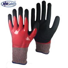 NMSAFETY Double Nitrile Huile de trempage et gants en nitrile résistant aux coupures calibre 13