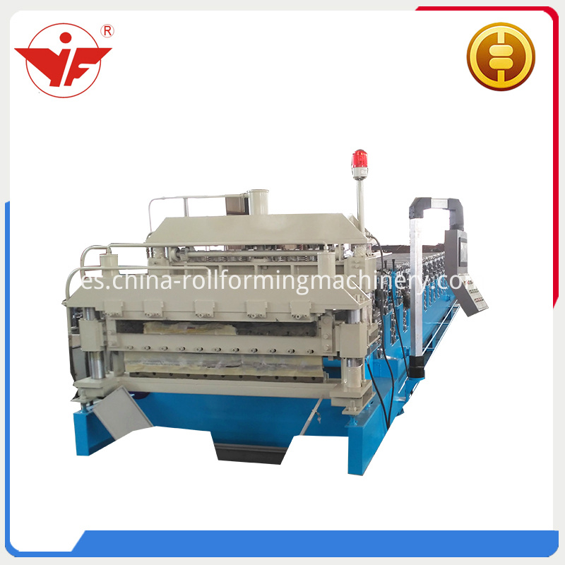Low cost double layer roll forming machine