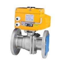 Válvula de bola eléctrica - GB Conexión de brida estándar