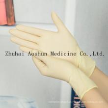 Luvas de látex cirúrgico de uso único para operação