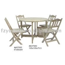 wooden table and chairs sets   AA07083R
