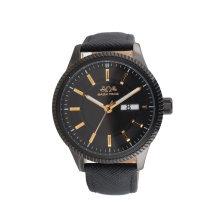 Edelstahl Uhr echtes Leder Band Einzelhandel Großhandel OEM Quarzuhr