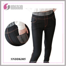 Fashionable Women High Waist Faked Jeans Leggings (SNDDK005)