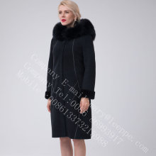 Lady Bright Thread Dekorasi Australia Merino Shearling Coat